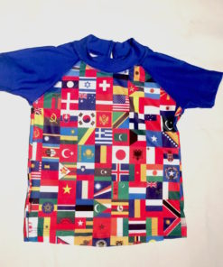 Remera con protección UV Hanauma Flags