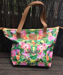 Bolso Playero Espejado Yellow