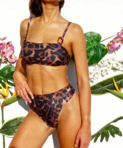Bikini bandeau animal print