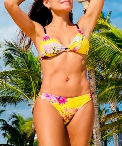 bikini estampada con flores rio exotic yellow