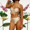 Bikini tiro alto lisa