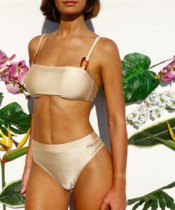 Bikini tiro alto bandeau