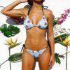 Bikini triángulo estampada