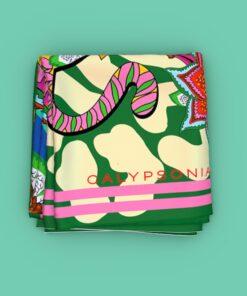 Pañuelo estampado verde