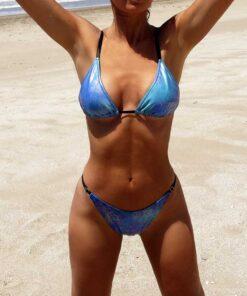 bikini brillante triangulo