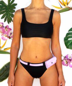 bikini negra con riñonera
